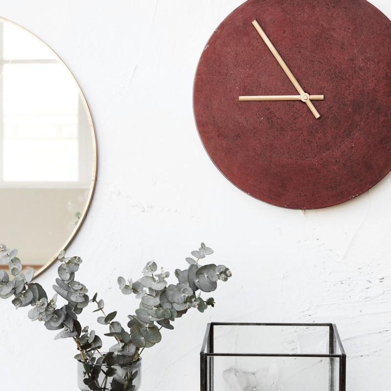 horloge murale aluminium house doctor inuse je0700. Black Bedroom Furniture Sets. Home Design Ideas