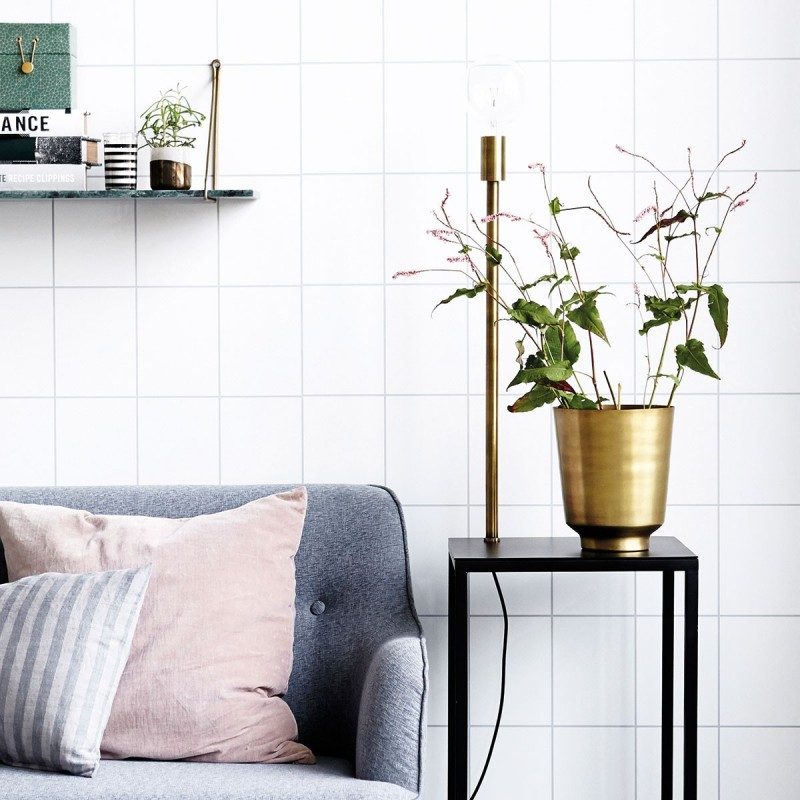 cache pot metal laiton house doctor oli nd0812. Black Bedroom Furniture Sets. Home Design Ideas