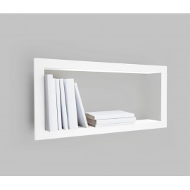 Presse Citron Largestick Metal Frame Wall Shelf White