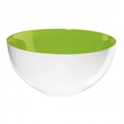 Saladier porcelaine blanc vert colour it asa