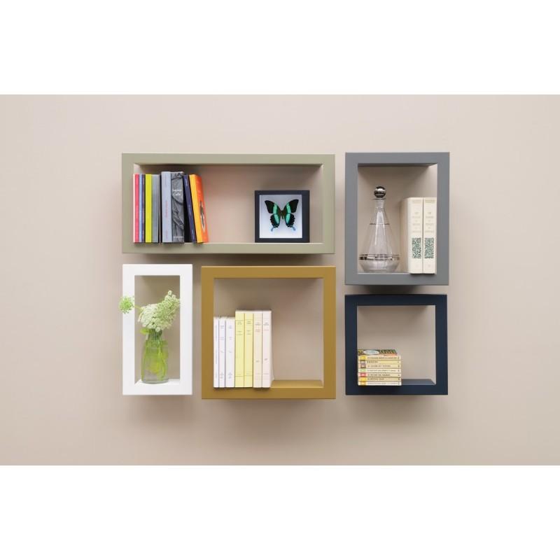 etagere murale carree stick presse citron ardoise. Black Bedroom Furniture Sets. Home Design Ideas