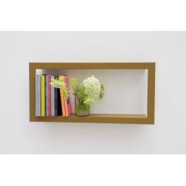 Presse Citron Largestick Metal Frame Wall Shelf cumin