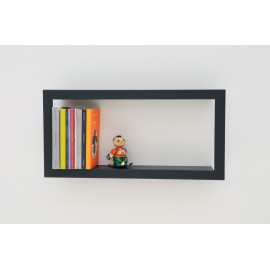 Presse Citron Largestick Metal Frame Wall Shelf slate