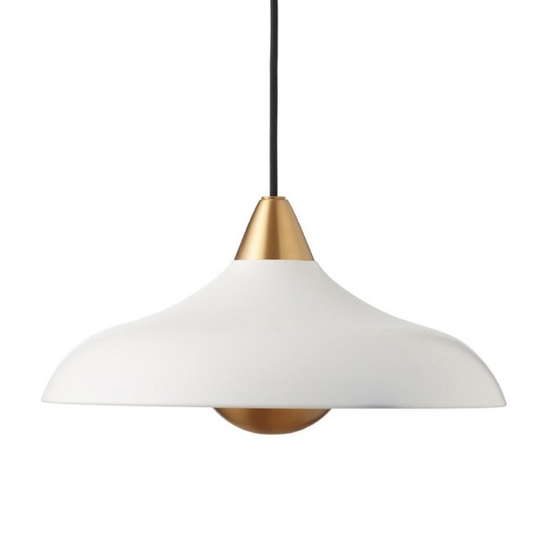 suspension ronde large metal blanc mat superliving urban wide. Black Bedroom Furniture Sets. Home Design Ideas