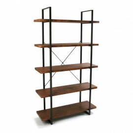 Étagère à poser 5 niveaux bois et métal noir Versa