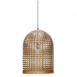 Lampe suspension en bambou Hubsch Oblong