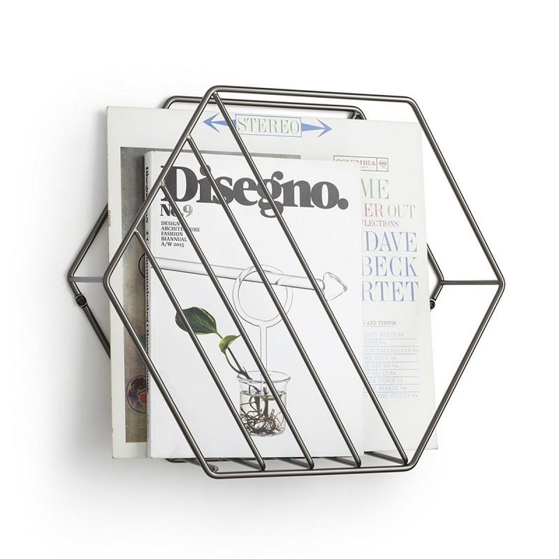 porte revues mural design metal umbra zina 1008973 378. Black Bedroom Furniture Sets. Home Design Ideas