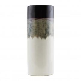 Vase tube House Doctor Eng Mocha terre cuite émaillée