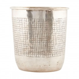 cache pot house doctor checks Ne0343 metal laiton argent