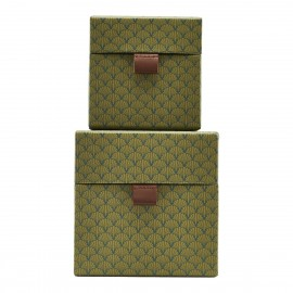 Set de 2 boîtes de rangement House Doctor Fan vert