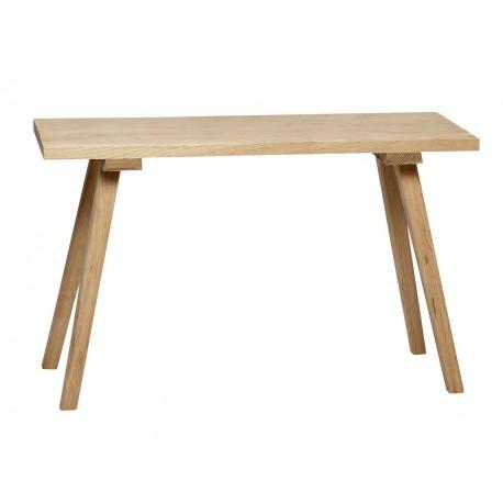 banc en bois naturel de chene hubsch 888002