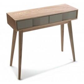 Table d entree console bois gris Versa Arvika