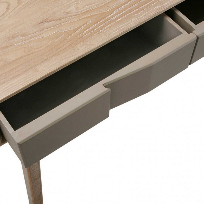 Table d entree console bois gris Versa Arvika - Kdesign