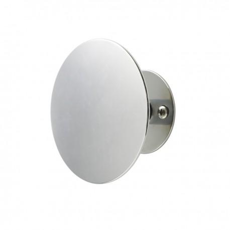 Patère ronde argent métal Uno Superliving 9 cm