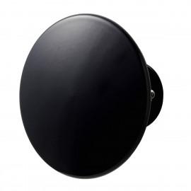 Porte-manteau patère ronde noire métal Superliving Uno 14 cm