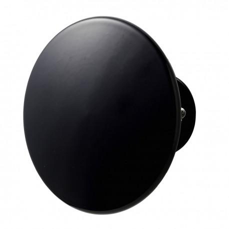 Patere ronde noire metal super living uno 14 cm