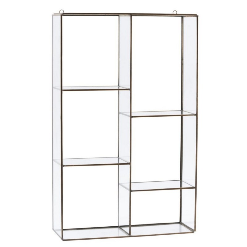 etagere vitrine murale en verre et laiton house doctor. Black Bedroom Furniture Sets. Home Design Ideas