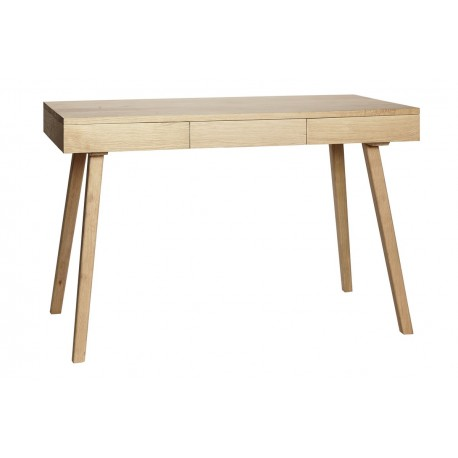 table de bureau chene epuree 3 tiroirs hubsch 889004. Black Bedroom Furniture Sets. Home Design Ideas