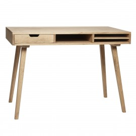 Table de bureau bois de chene naturel hubsch