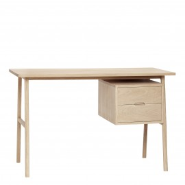 table de bureau chene naturel 2 tiroirs hubsch 880503
