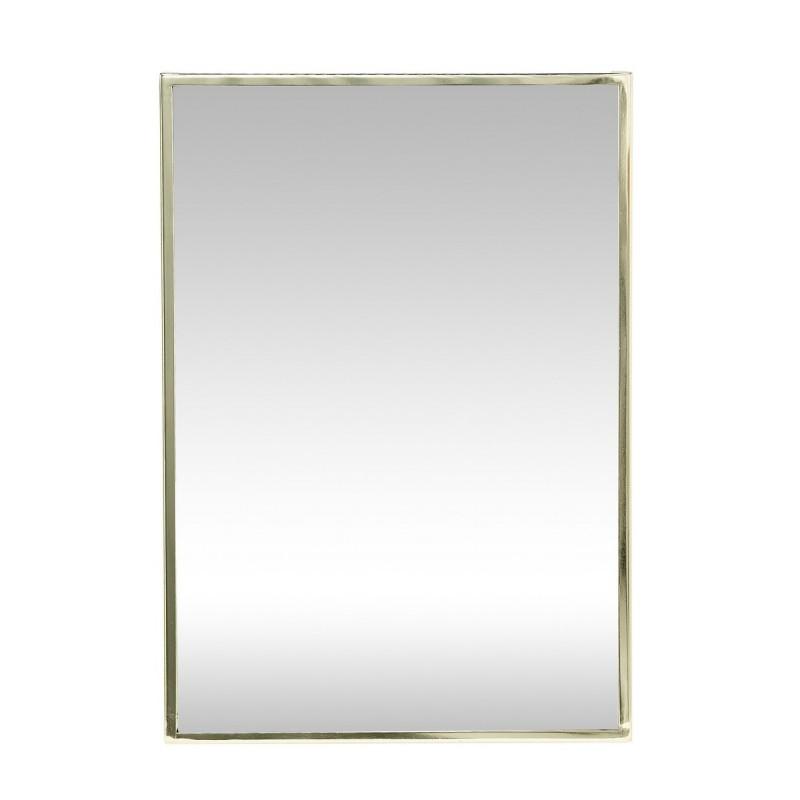 Miroir mural rectangulaire dore hubsch 940118 for Miroir rectangulaire mural