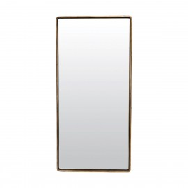 Grand miroir rectangulaire métal laiton antique House Doctor Reflection 55 x 25 cm