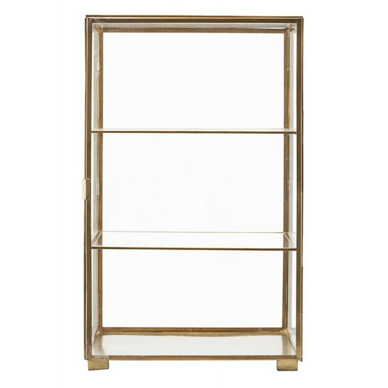 vitrine etagere en verre laiton house doctor cabinet cb0750. Black Bedroom Furniture Sets. Home Design Ideas