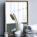 miroir mural bois de chene house doctor oak 60 x 100 cm