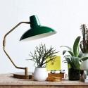 Lampe de table bureau classique laiton house doctor desk vert Cb0451