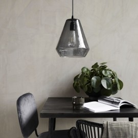 Suspension verre gris house doctor hood