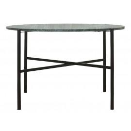 Table basse ronde métal noir marbre vert House Doctor The Green