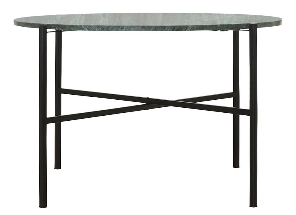 Table Basse Ronde Marbre Vert House Doctor The Green Kdesign