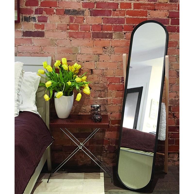miroir sur pied psyche noir umbra hub 358375 045. Black Bedroom Furniture Sets. Home Design Ideas