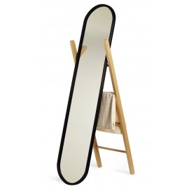 Miroir sur pied psyche noir umbra hub