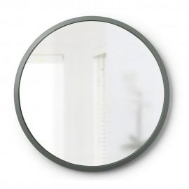 Miroir mural rond caoutchouc gris Umbra Hub D 61 cm