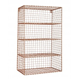 Etagere murale grillage metallique rose madam stoltz