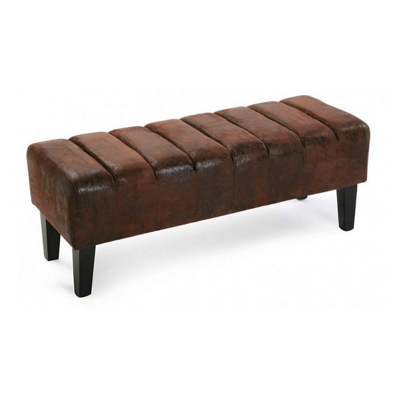 banc vintage effet cuir vieilli versa renoir. Black Bedroom Furniture Sets. Home Design Ideas