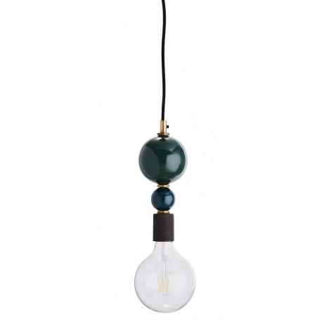 Suspension ampoule décorative boules en métal empilées Madam Stoltz