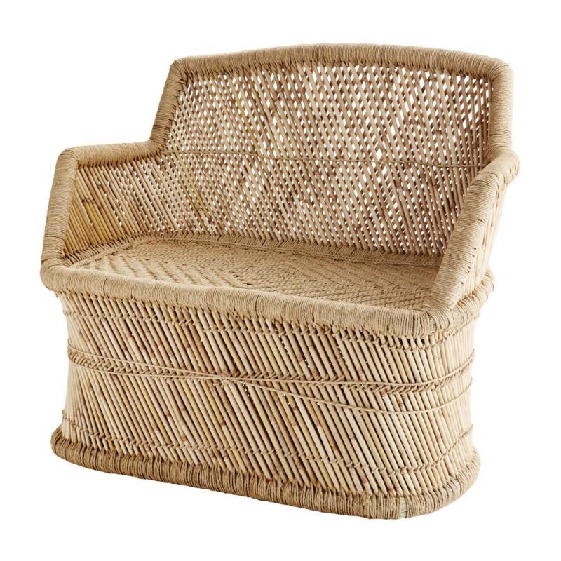 madam stoltz fauteuil en bambou et corde ss1099. Black Bedroom Furniture Sets. Home Design Ideas