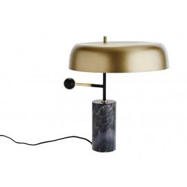 Lampe de bureau style années 40 laiton marbre Madam Stoltz