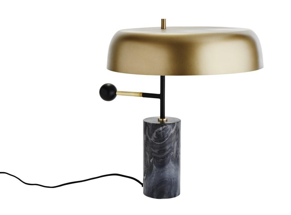 Lampe de bureau style annes laiton et marbre madam stoltz kdesign