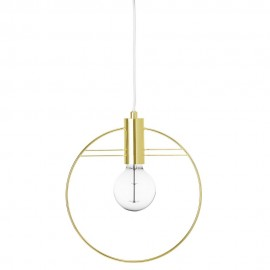 Suspension cercle metal laiton dore bloomingville