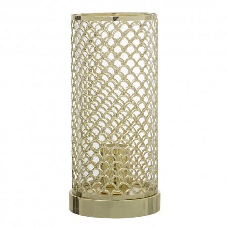 Lampe tube metal dore ajoure bloomingville