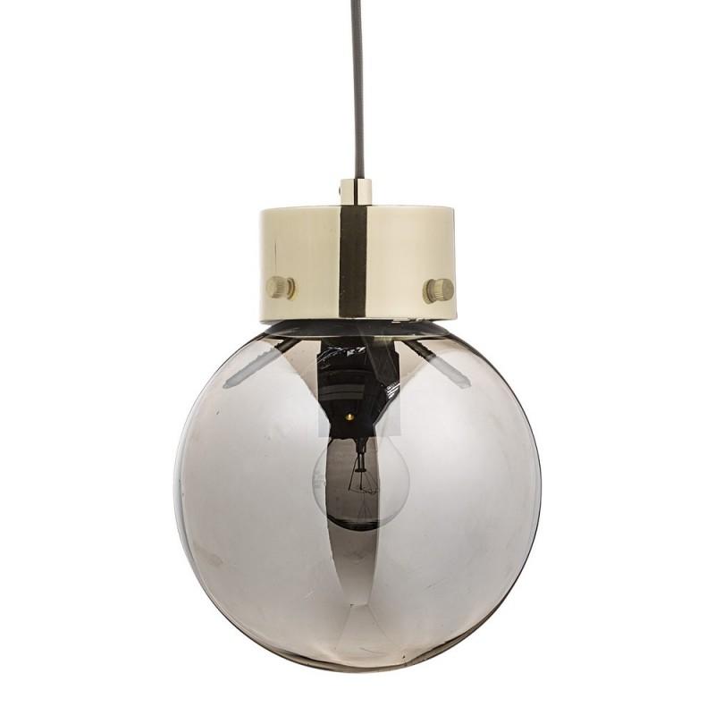 bloomingville suspension boule verre fume argent 68704759. Black Bedroom Furniture Sets. Home Design Ideas