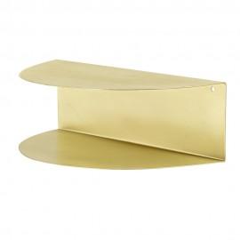 Petite étagère murale demi-cercle métal doré Bloomingville Mezzo