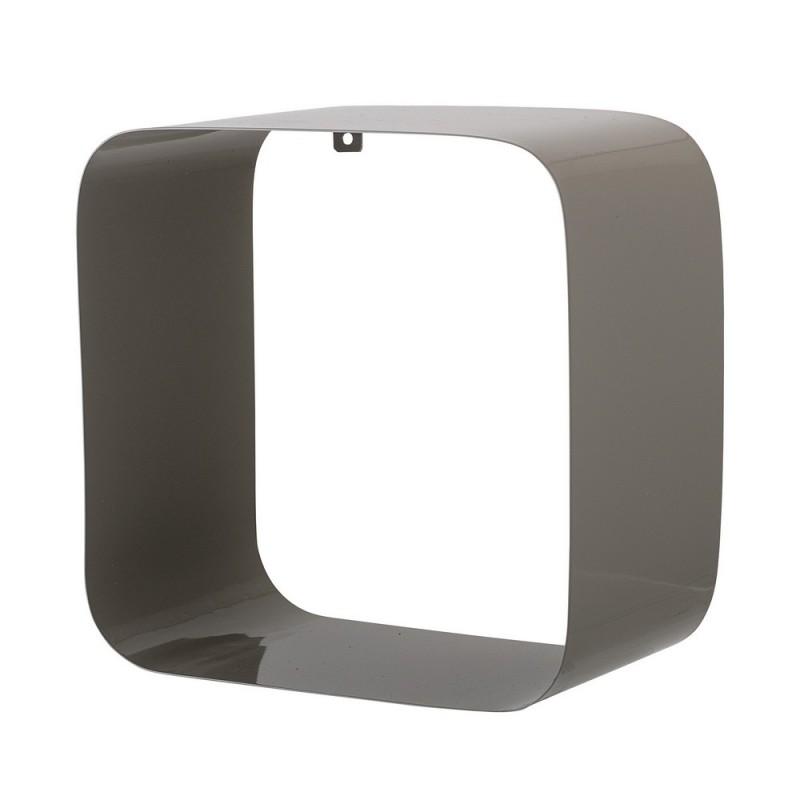 bloomingville etagere murale retro cube metal gris 48700092. Black Bedroom Furniture Sets. Home Design Ideas