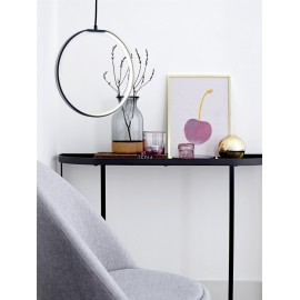 Table console metal noir bloomingville harper