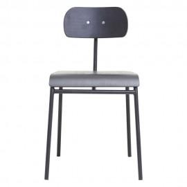 Chaise rétro design bois House Doctor School noir