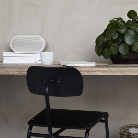 Chaise retro design bois noir house doctor school