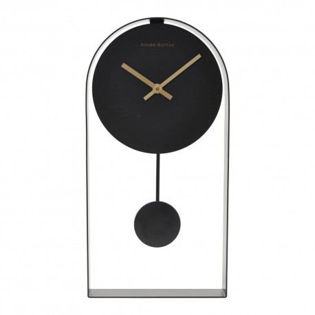 Pendule horloge noire House Doctor Art